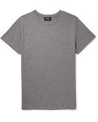 A.P.C. Jimmy Cotton-jersey T-shirt - Gray