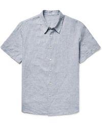 James Perse - Slim-fit Slub Linen Shirt - Lyst