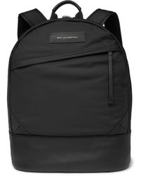Want Les Essentiels De La Vie Kastrup Leather-trimmed Shell Backpack - Black
