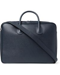 Valextra Pebble-grain Leather Briefcase - Blue