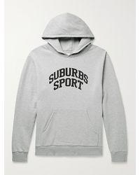 Pasadena Leisure Club Suburbs Sport Printed Fleece-back Cotton-blend Jersey Hoodie - Grey