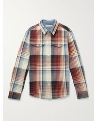 Outerknown Blanket Checked Organic Cotton-twill Shirt - Red