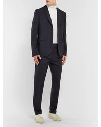 Acne Studios Unstructured Wool And Mohair-blend Blazer - Blue
