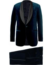 Polo Ralph Lauren - Navy Slim-fit Satin-trimmed Cotton-velvet Tuxedo - Lyst