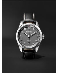 Bremont Airco Mach 2 Anthracite Automatic 40mm Stainless Steel And Leather Watch, Ref. Airco-m2-an-r-s - Grey
