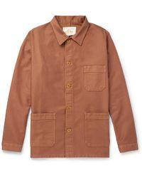 Le Mont St Michel Cotton-moleskin Chore Jacket - Brown