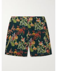 Snow Peak Quick Dry Perforated Printed Shell Shorts - Green