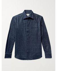 Incotex Cotton-flannel Shirt - Blue