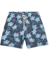Faherty Brand - Beacon Mid-length Printed Swim Shorts - Lyst