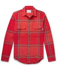 Adsum Checked Cotton-flannel Shirt - Orange