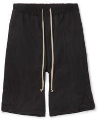 Rick Owens - Basket Swinger Stretch-cotton Shell Drawstring Shorts - Lyst