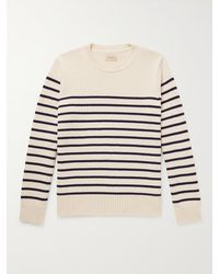 Nudie Jeans Hampus Striped Recycled Cotton-blend Jumper - Multicolour