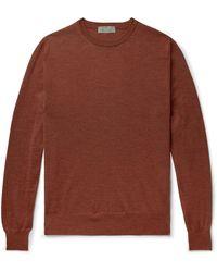 Canali Merino Wool Rollneck Jumper - Orange