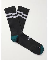 MAAP Emblem Striped Meryl Skinlife Stretch-knit Cycling Socks - Black