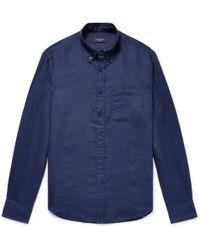 Club Monaco - Button-down Collar Linen Shirt - Lyst