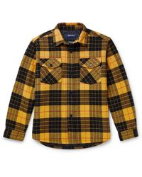 Noon Goons Checked Flannel Overshirt - Yellow