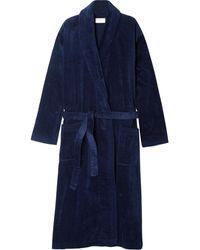 Derek Rose Cotton-terry Robe - Blue
