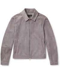 Dunhill Suede Blouson Jacket - Grey
