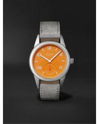 Nomos Glashütte Club Campus Hand-wound 36mm Stainless Steel And Leather Watch, Ref. No. 710 - Orange