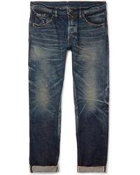 Fabric-Brand & Co. - Aksel Slim-fit Distressed Selvedge Denim Jeans - Lyst