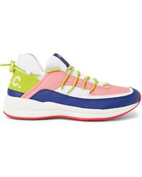 A.P.C. Little Joe Logo-detailed Ripstop, Leather And Neoprene Sneakers - Pink