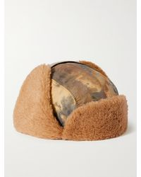 A Kind Of Guise Khoni Camouflage-print Recycled Nylon And Faux Shearling Trapper Hat - Brown