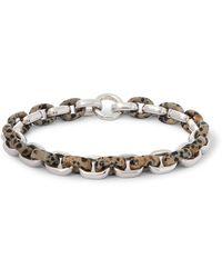 Bottega Veneta Sterling Silver Dalmatian Quartz Bracelet - Metallic