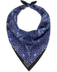 Acne Studios Paisley-print Silk-twill Bandana - Blue