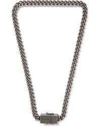 Vetements Silver-tone Necklace - Metallic