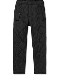 Aimé Leon Dore Woolrich Quilted Padded Stretch-ripstop Trousers - Black