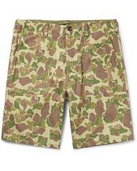 Rag & Bone - Camouflage-print Cotton-canvas Shorts - Lyst