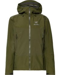 Arc'teryx Beta Sl Hybrid Gore-tex Hooded Jacket - Green