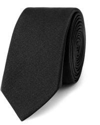 Saint Laurent Silk Tie - Black