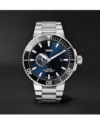 Oris Aquis Small Second Date Automatic 45.5mm Stainless Steel Watch, Ref. No. 01 743 7733 4135-07 8 24 05peb - Blue