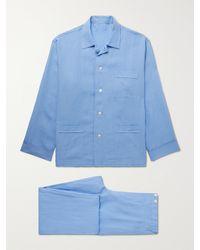 Anderson & Sheppard Linen Pyjama Set - Blue