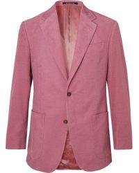 Richard James Stone Slim-fit Cotton-corduroy Suit Jacket - Pink