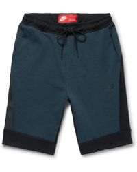 Nike - Sportswear Cotton-blend Tech Fleece Shorts - Lyst