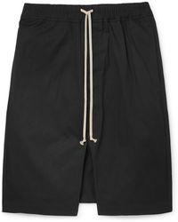 Rick Owens - Pod Stretch-cotton Drawstring Shorts - Lyst