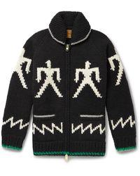 Carhartt WIP Intarsia Wool Zip-up Cardigan - Black