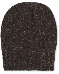 Anderson & Sheppard - Ribbed Donegal Mélange Wool And Cashmere-blend Beanie - Lyst