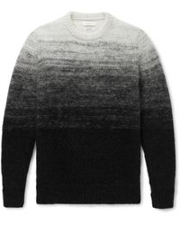 Richard James Dégradé Knitted Sweater - Gray