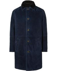 Loro Piana Maremma Shearling Coat - Blue