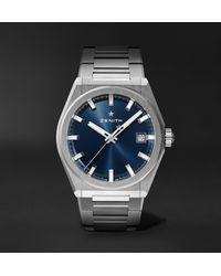 Zenith Defy Classic Automatic 41mm Brushed-titanium Watch - Blue