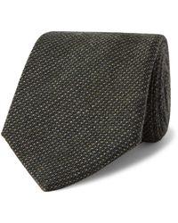Anderson & Sheppard 9cm Virgin Wool-blend Tie - Green