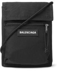 Balenciaga - Logo-detailed Canvas Messenger Bag - Lyst