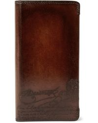 Berluti + Native Union Scritto Polished-leather Iphone 8 Case - Brown