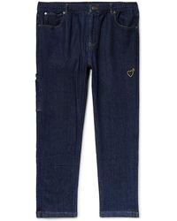 adidas Originals Human Made Slim-fit Embroidered Stretch-denim Jeans - Blue