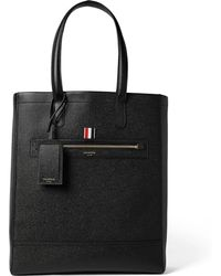 Thom Browne - Pebble-grain Leather Tote Bag - Lyst
