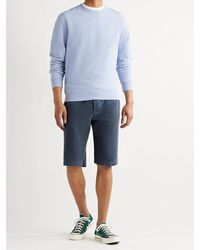 James Perse Mélange Loopback Cotton-jersey Drawstring Shorts - Blue