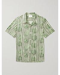 MR P. Striped Cotton-poplin Shirt - Green